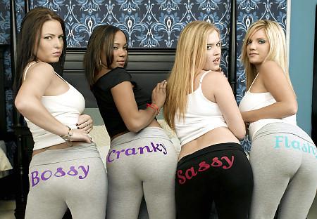 That interfere, Hot blonde girls yoga pants ass