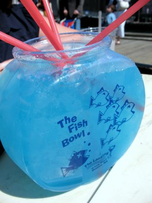 Beach club grand opening for Fish bowls drinks