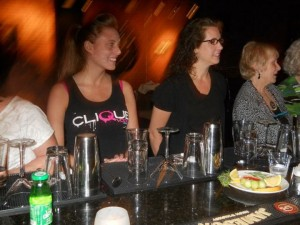 Mixology Students watch and learn!