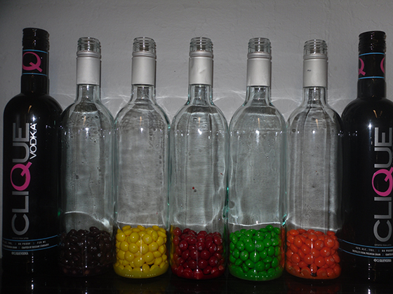 skittles soaked in vodka