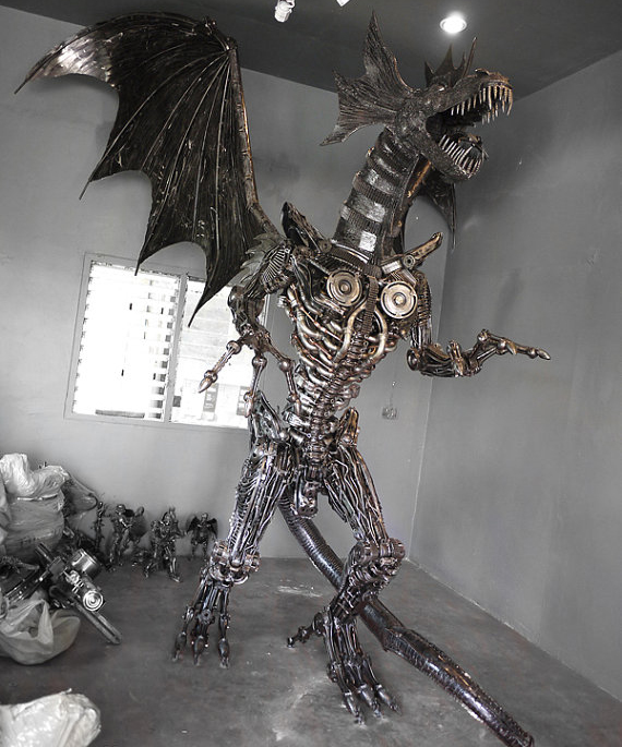steampunk-metal-dragon