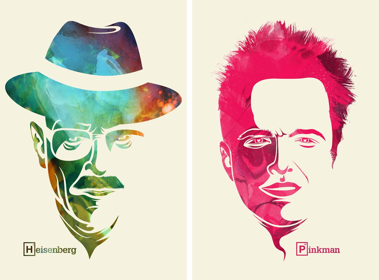 bad breaking pinkman heisenberg graphic jesse fan poster walter sidwell artwork aaron breakingbad graphics artist draw paul adam heizenberg let