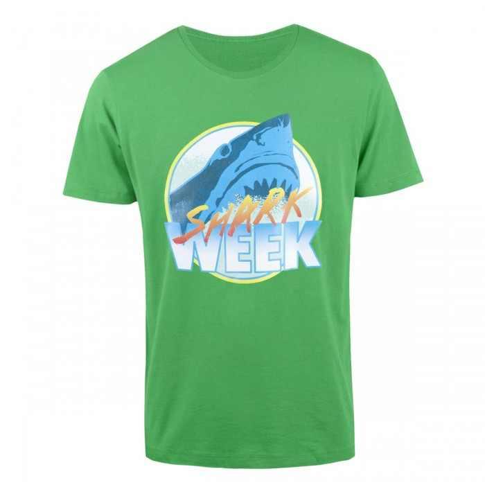 green shark week tee