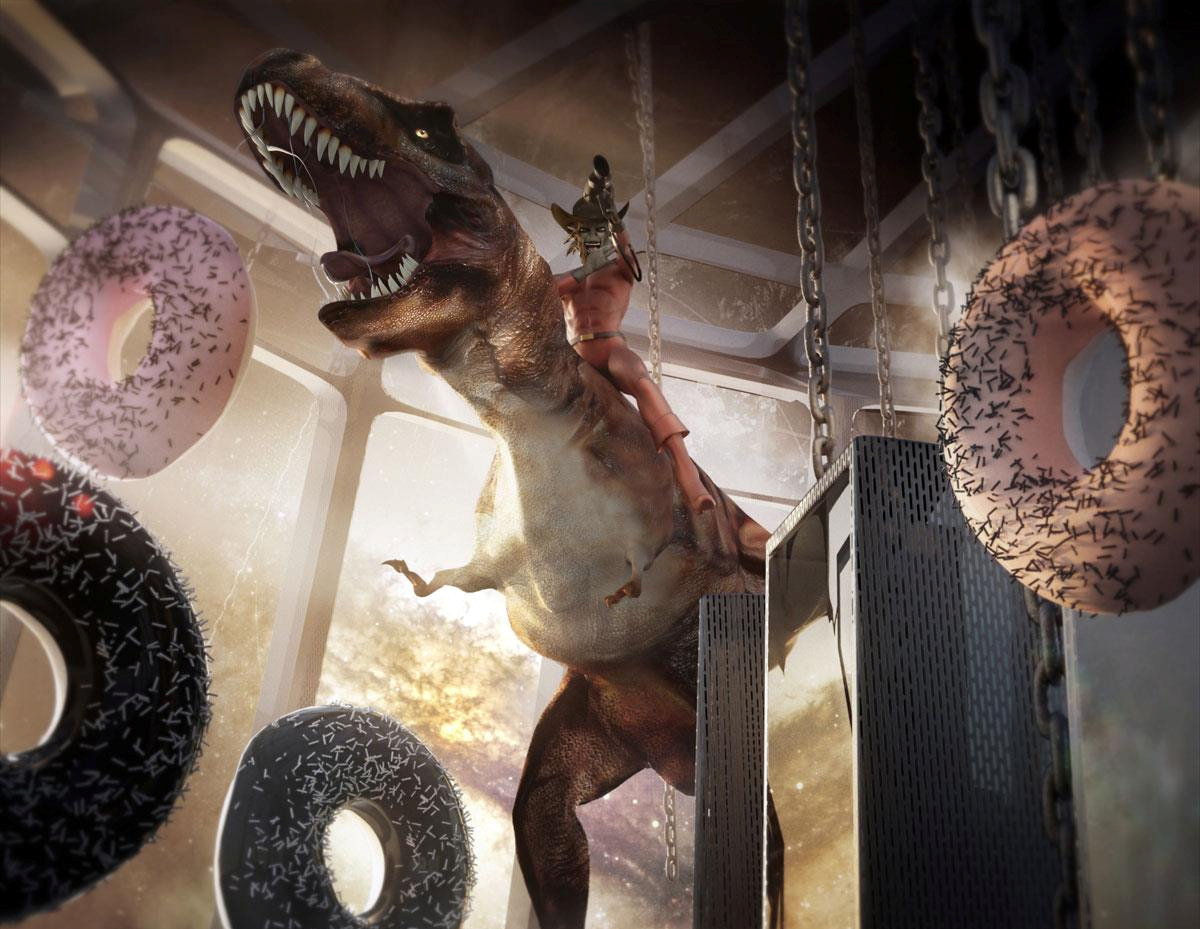 dino and donuts