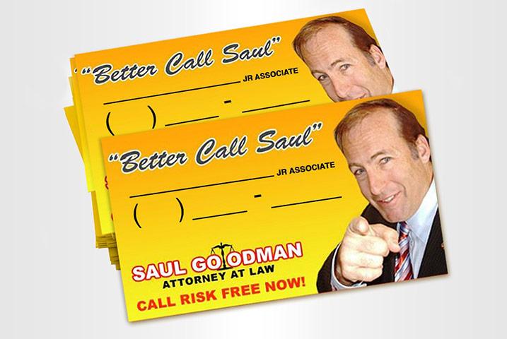 Better Call Saul business cards