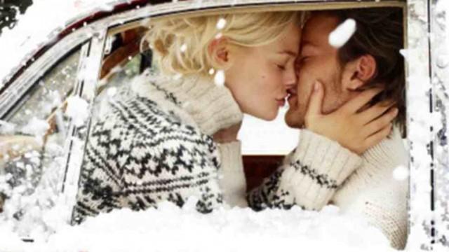 Kissing in car
