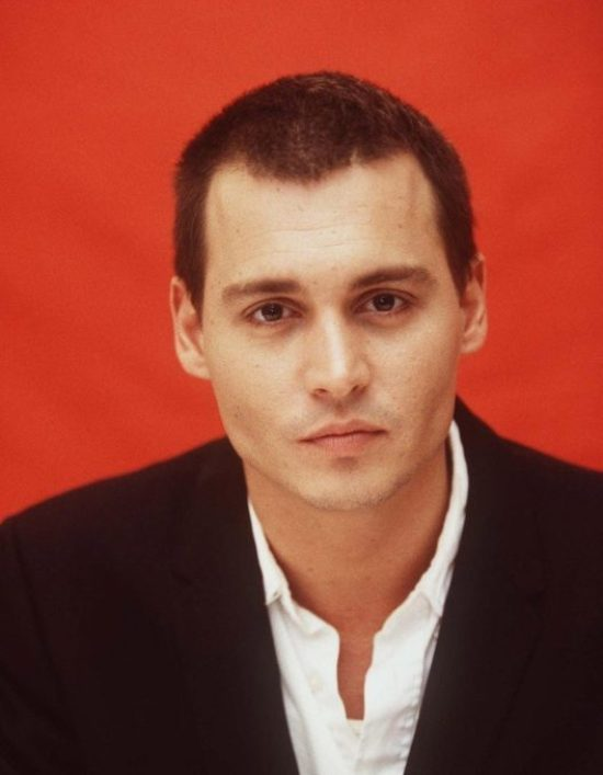 Johnny Depp Buzzed Brown Hairstyle Young