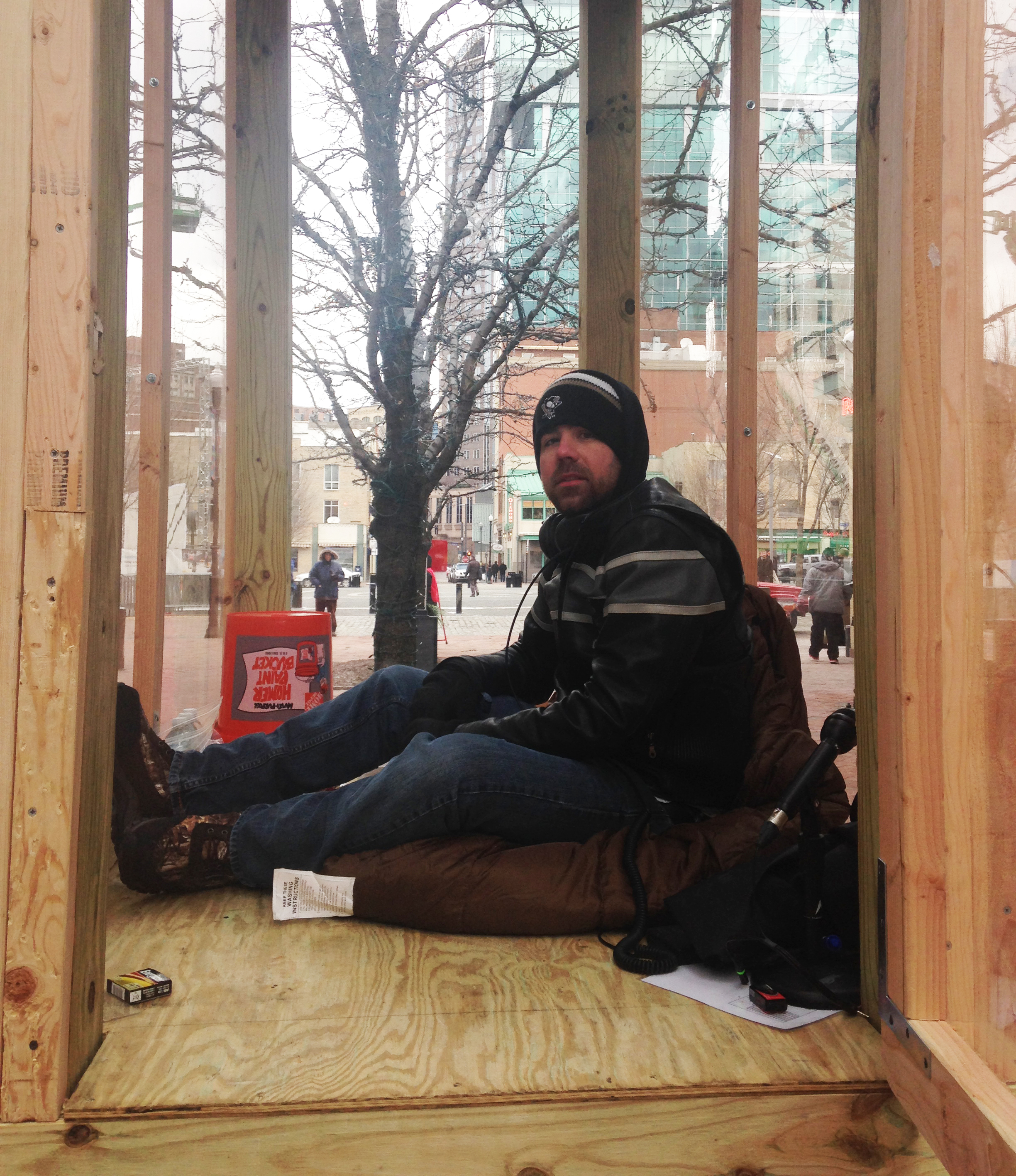 Why Is There A Man Living In A Box in Market Square, Pittsburgh?